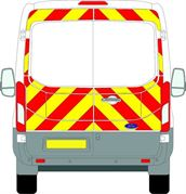 Ford Transit (2014 - Present) - BACK - Full Chevron Kit (Window Cut-Outs) - Medium Roof