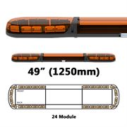 ECCO 13 Series R65 LED 24 Module Lightbar (1250mm) - Amber/Amber