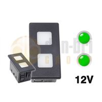 Carling 273.014 VP-SERIES CONTURA Dash Warning Light 12V 2xLED GREEN/GREEN