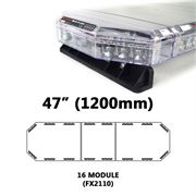 Redtronic FX2110AC Low-Profile LPFX 1200mm AMBER/CLEAR 16 Module LED Lightbar R65 12/24V