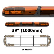 ECCO 13 Series R65 LED 16 Module Lightbar (1000mm) - Amber/Amber