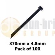 DBG Standard Nylon Cable Ties 370mm x 4.8mm Black (Pack of 100)