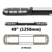 ECCO 13 Series R65 LED 24 Module Lightbar (1250mm) - Amber/Clear