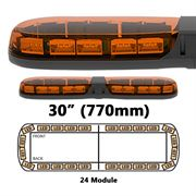 ECCO 13 Series R65 LED 24 Module Lightbar (770mm) - Amber/Amber