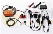 Amber Valley Blind Spot Sideminder Ultrasonic Sensor Alarmalight Kit with In-Cab Display - AVBSK4