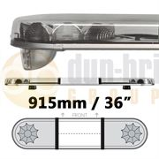 LAP Electrical LB362AC/O CLASSIC TITAN 915mm AMBER/CLEAR 2 Module LED Lightbar with Opaque Centre R65 12/24V
