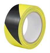 DBG PVC Self-Adhesive Hazard Warning Tape 50mm x 33mm (Black/Yellow)