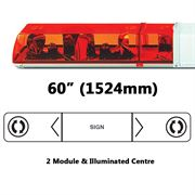 ECCO 705.001 70 Series Rotator 2 Module Lightbar (1524mm) - Amber 12V