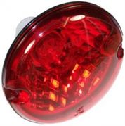 Perei/LITE-wire 95 Series (95mm) Round Opticulated BULB REAR FOG Light Packard Timer 24V - RF7OPT24V