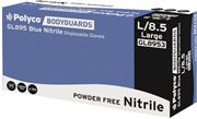 Polyco Bodyguards GL895 Blue Nitrile Disposable Gloves