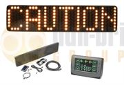 ECCO HD0012A HD0012 LED Matrix Message Master Warning Sign - Amber