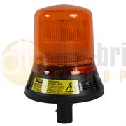 Britax 280 Series Xenon DIN Pole Mount Beacon - Amber