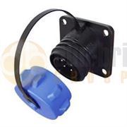 2-Pin-Heavy-Duty-Waterproof-Plastic-Bulkhead-Socket-32A