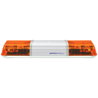ECCO 602.3A02 60 Series 742mm AMBER 2 Module ROTATOR Lightbar with Illuminated Centre R65 24V