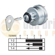 Durite 0-351-06 4 Position (OFF/IGNITION/PRE-HEAT/HEAT START) Ø16mm Ignition Switch with Key