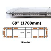 ECCO 15L-01330-V 15L Series 1500mm AMBER/CLEAR 24 Module LED Lightbar with Opaque Centre R65 12/24V