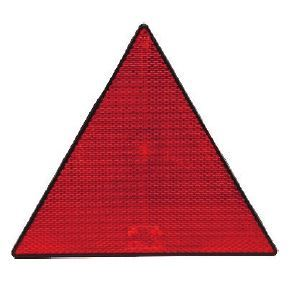 DBG Self-Adhesive Triangular Red Rear Reflector (Pack of 2)