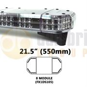 Redtronic FX1DS105AC Double-Stack DSFX 550mm AMBER/CLEAR 16 Module LED Lightbar R65 12/24V