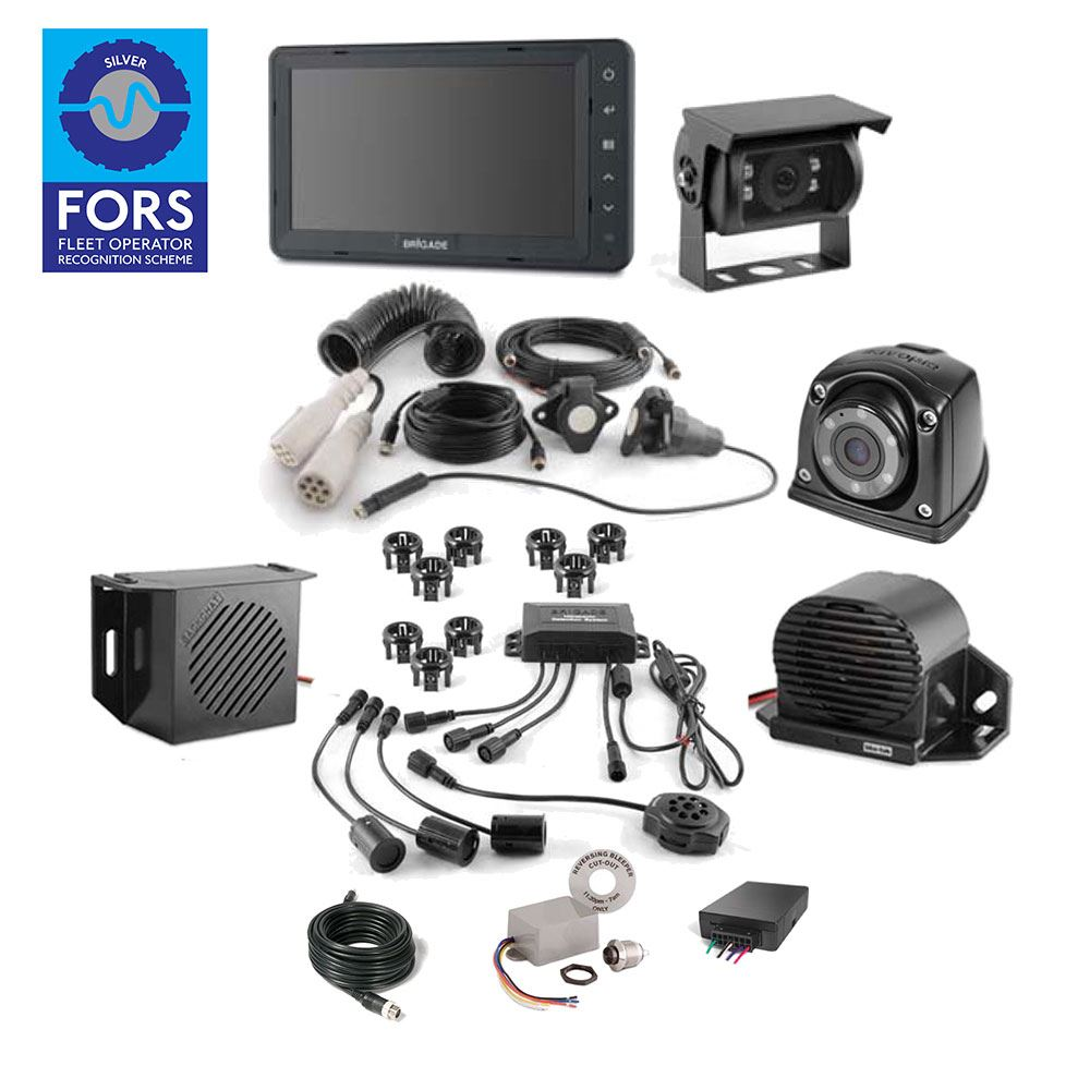 Brigade CLOCS/FORS SILVER Select Camera Monitor Scanner Kit for Articulated Vehicles