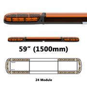 ECCO 13 Series R65 LED 24 Module Lightbar (1500mm) - Amber/Amber