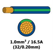 DBG Single Core Thin Wall PVC Auto Cable 1.0mm² (16.5A) - Blue/Green