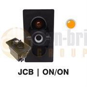 Carling 273.502 V-SERIES Rocker Switch Base JCB TYPE 12V ON/ON DP 1xLED AMBER