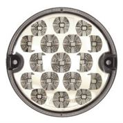 DBG Valueline LED 95mm Round INDICATOR Light CLEAR Fly Lead 12/24V - 386.001C