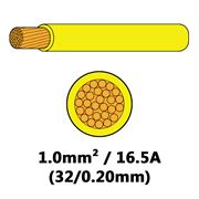 DBG Single Core Thin Wall PVC Auto Cable 1.0mm² (16.5A) - Yellow