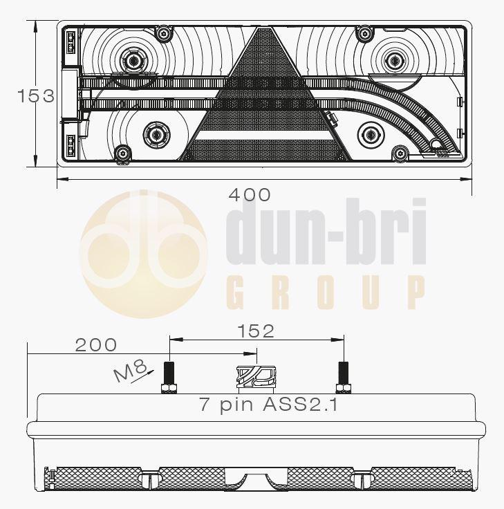 Aspock Europoint Iii Rh Rear Combination Lamp Dun Bri