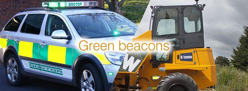 12V 24V SINGLE 1 BOLT POINT MOUNT LED FLASHING GREEN SEAT BELT WARNING BEACON
