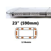 ECCO 15L-01325-V 15L Series 590mm AMBER/CLEAR 12 Module LED Lightbar R65 12/24V