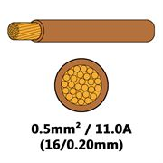 DBG Single Core Thin Wall PVC Auto Cable 0.5mm² (11.0A) - Brown