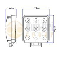 711.003-Dun-Bri-Group-Square-LED-Work-Lamp-Schematic