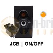 Carling 273.500 V-SERIES Rocker Switch Base JCB TYPE 12V ON/OFF SP 1xLED AMBER