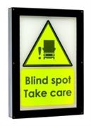 "Amber Valley ""Blind Spot Take Care"" LED Warning Sign (FORS Approved) 24V - AVWS0124"