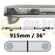 LAP Electrical LB362AC CLASSIC TITAN 915mm AMBER/CLEAR 2 Module LED Lightbar R65 12/24V