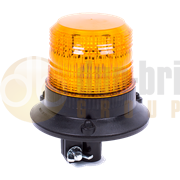 ECCO 420002 ALPHA DIN Pole Mount AMBER 2W XENON Beacon 12/24V
