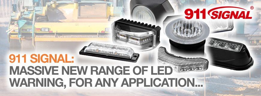 911 Signal LED light heads: New extended range available