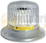 ECCO Orion Series Three Bolt LED Amber/Clear Beacon 12-80V - 498001
