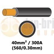 DBG PVC Flexible Battery/Starter Cable 560/0.30 40mm² 300A - BLACK - 10m - 540.4934F/10B