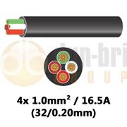 DBG 4 Core Thinwall PVC Automotive Cable 4x 32/0.20 1.0mm² 16.5A - 100m - 540.4402HT/100B