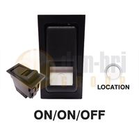 DBG 444084 SWF Style (511.084) 24V ON/ON/OFF DP Rocker Switch - BULB LOCATION Light