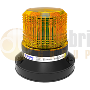 ECCO ECCOLED SILVER Series Magnetic Mount LED R65 Amber Beacon 12/24V - EB5017A