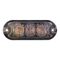 Tech-LED HPF-300 Low Profile R65 3-LED Directional Warning Module - Amber