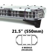 Redtronic FX2DS110AC Double-Stack DSFX 550mm AMBER/CLEAR 24 Module LED Lightbar R65 12/24V