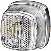 Hella 2PG 003 057-011 Bulb Front Marker Light with Reflector (White Base) 12/24V - 2PG 003 057-011