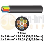 DBG 7 Core Thinwall PVC Automotive Cable 6x 32/0.20 1.0mm² 16.5A / 1x 28/0.30 2.0mm² 25.0A - 100m - 540.4702HT/100B