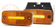WAS W157 Series LED SIDE MARKER / CAT5 INDICATOR Light with REFLECTOR Fly Lead 12/24V - 1133