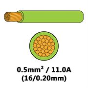 DBG Single Core Thin Wall PVC Auto Cable 0.5mm² (11.0A) - Light Green
