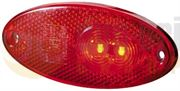 Hella 2TM 964 295-101 LED Rear Marker Light with Reflector (5m Fly Lead) 12V - 2TM 964 295-101